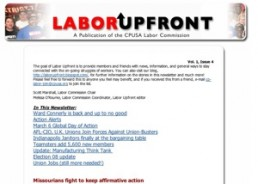 Labor Upfront – March 3, 2008