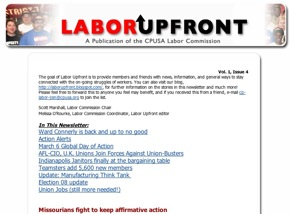 Labor Upfront – March 3, 2008