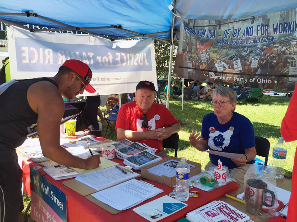 CPUSA table a hit at Columbus festival