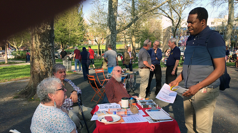Philadelphia club tables at May Day event