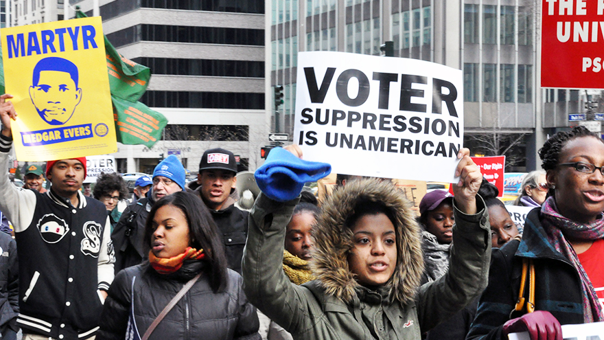 The fight for voting rights today