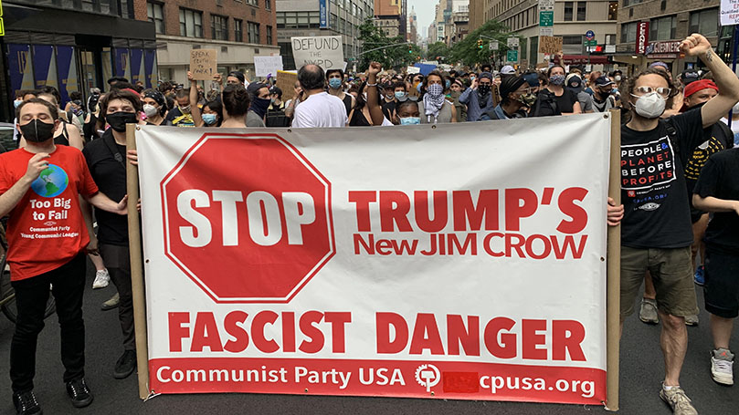 Young communists in NYC protest police violence