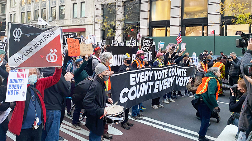 New Yorkers march to defend the vote
