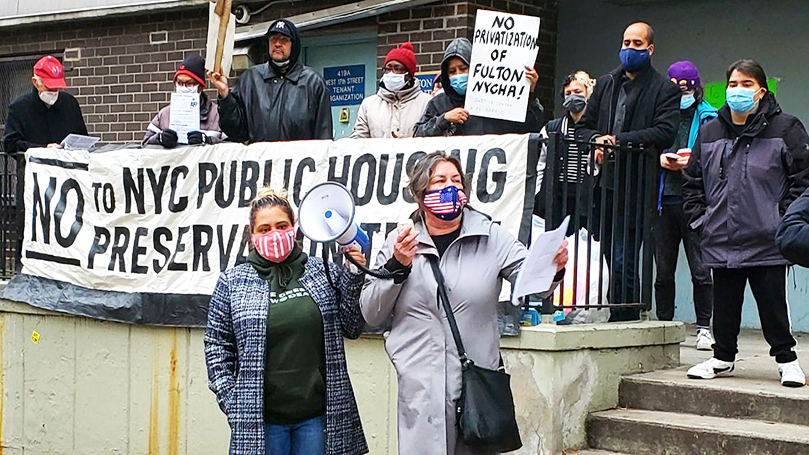 Public housing residents fight privatization